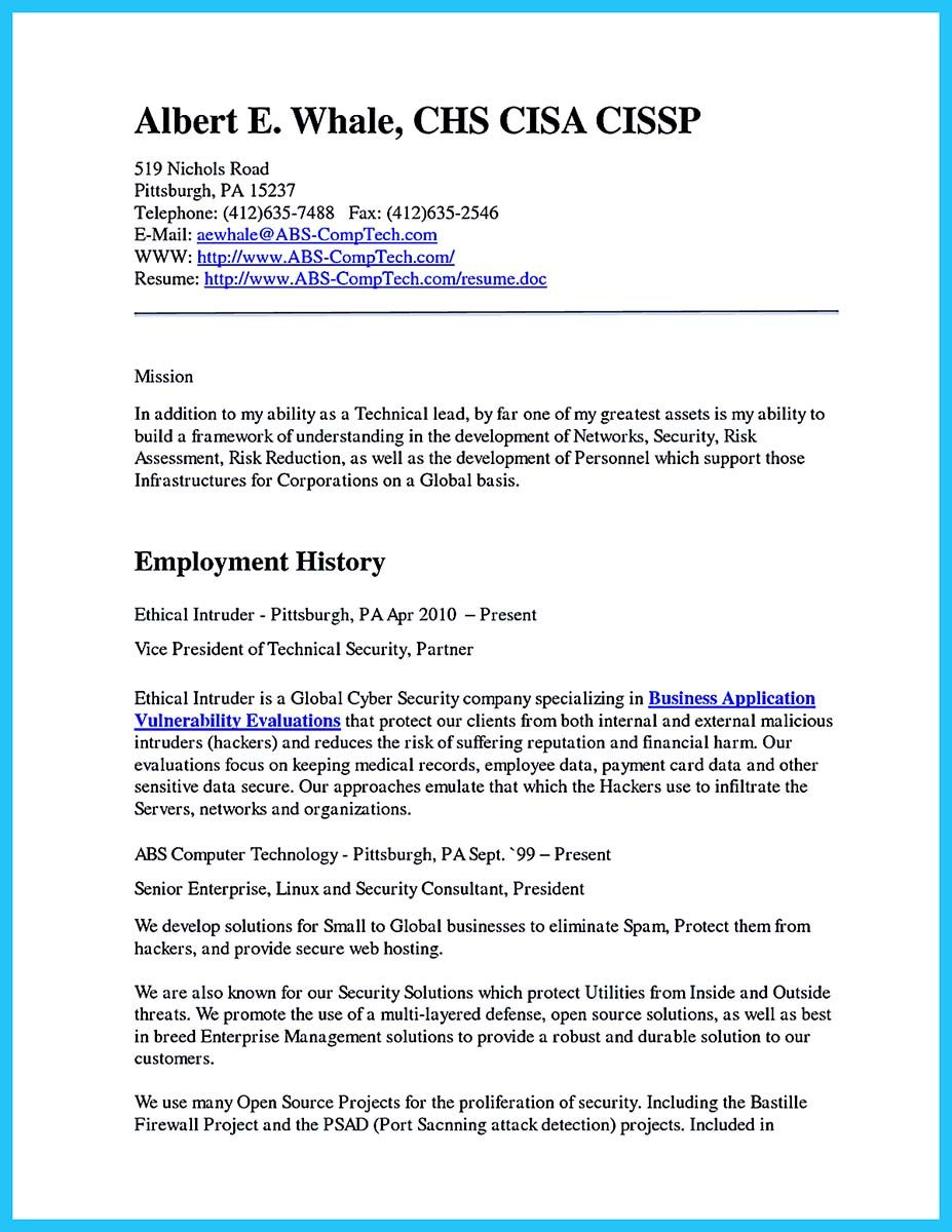 Resumedoc Nice Powerful Cyber Security Resume To Get Hired Right Away .