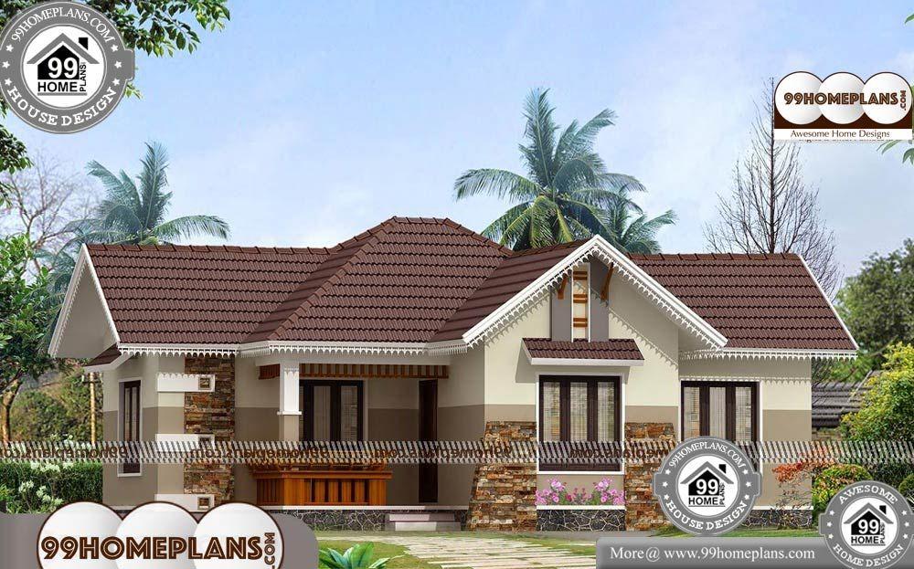 3 Bedroom House Plans In Kerala Single Floor Single Story 1200