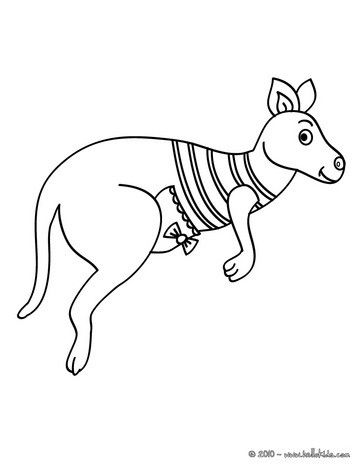 Kangaroo Coloring Page More Australian Animals Sheets On Hellokids