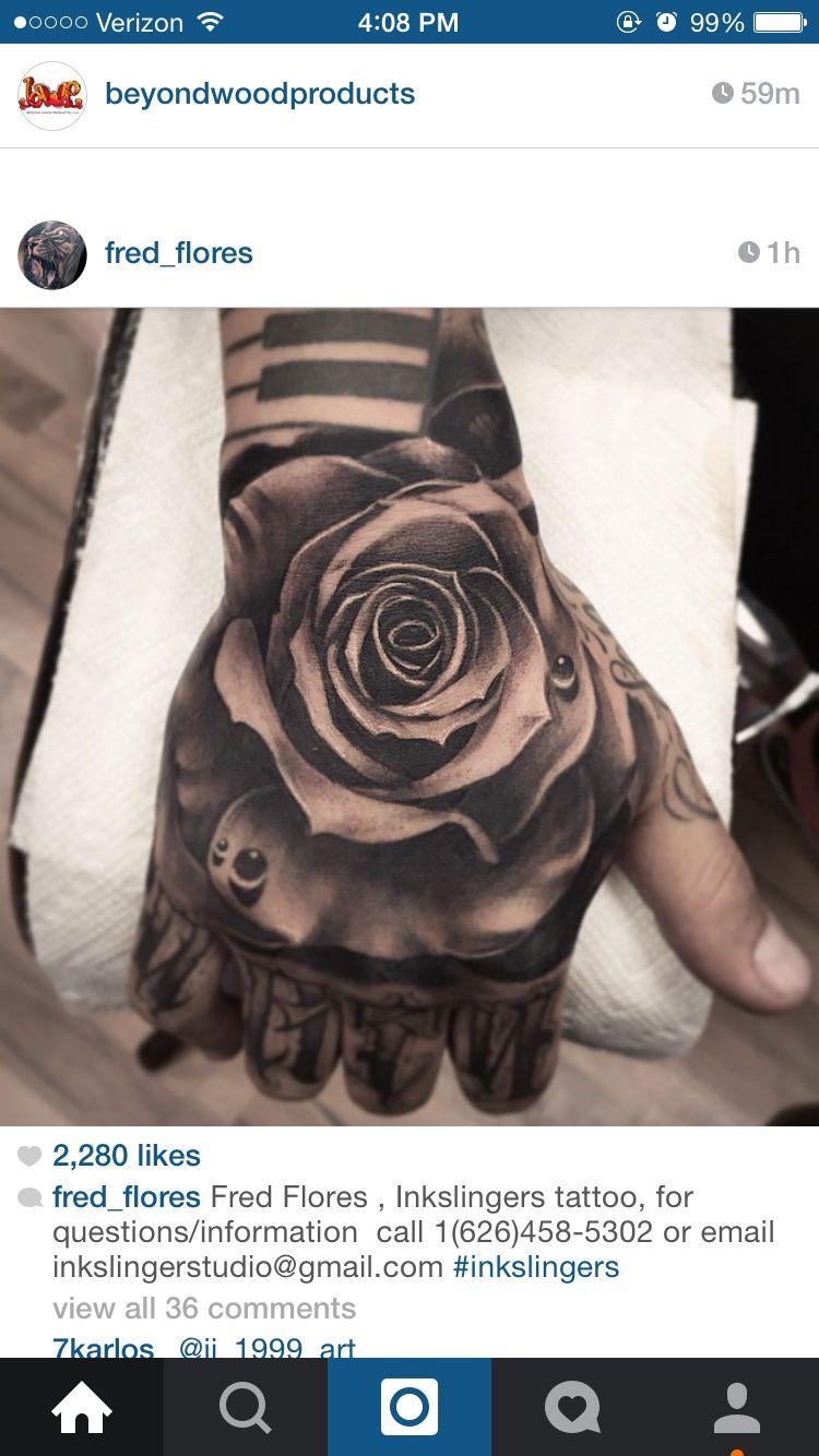 Rose Tattoo Hand Tatoeage Ideeen Handtatoeages Tatoeage Benen