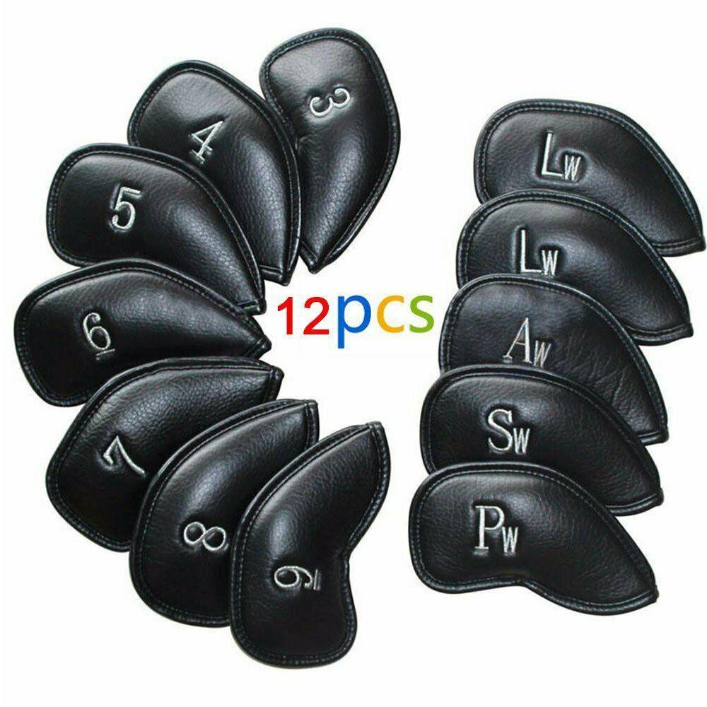 Ad Ebay 12 Pu Leather Golf Head Cover Wedge Iron Club Putter Headcovers Black Ba Golf Club Headcovers Golf Head Covers Cheap Golf Clubs