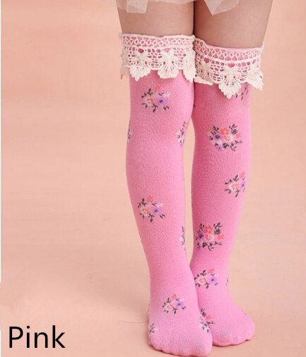 92d0ceb40 Little girl lace thigh high socks