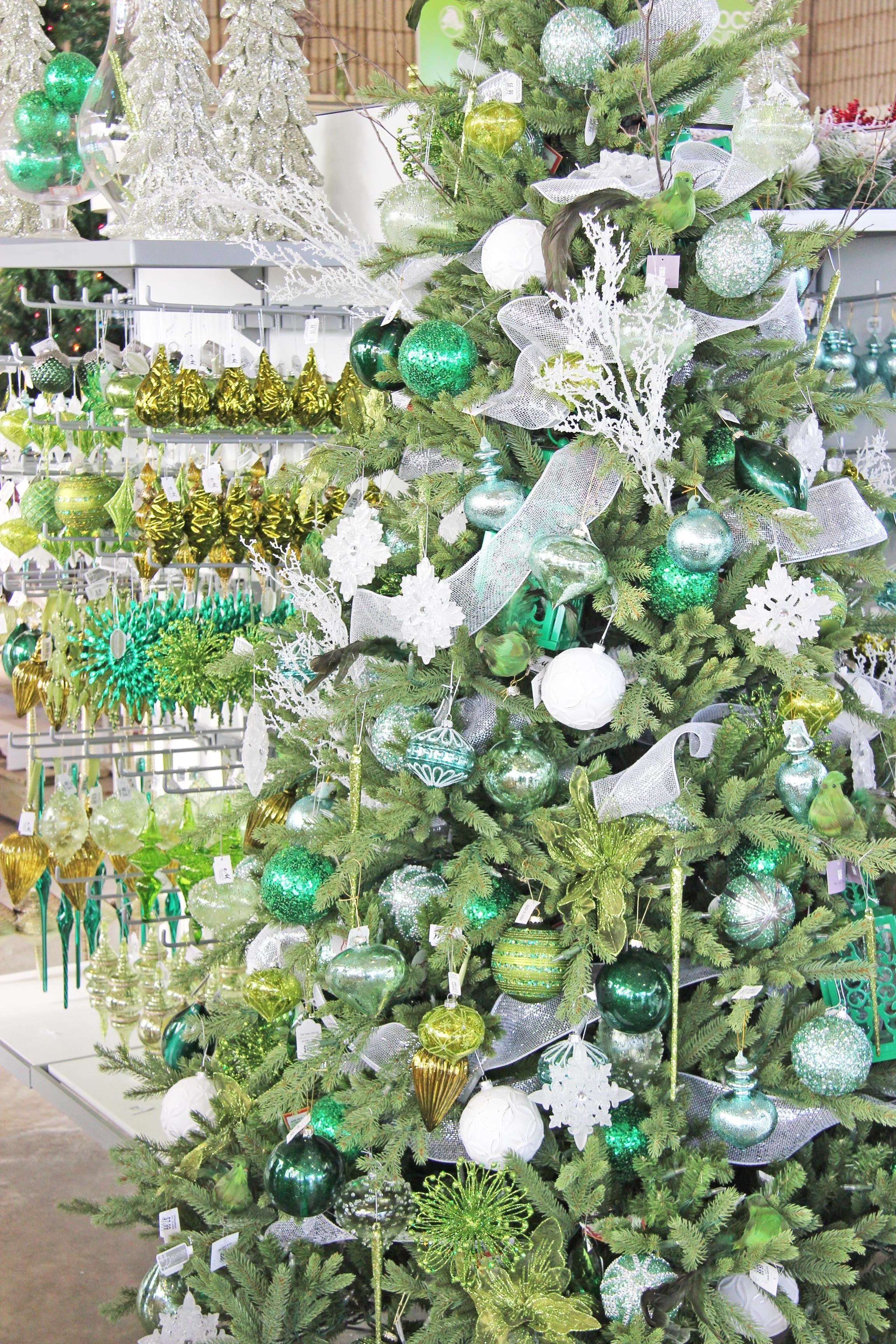 Christmas Decor Shades Of Green Christmas Tree Theme
