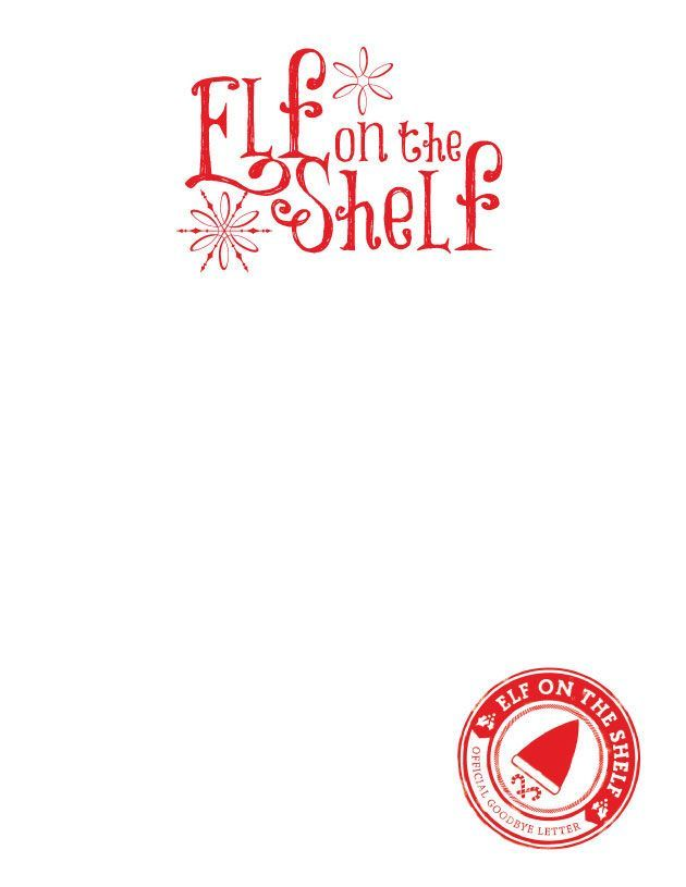 elf on the shelf stationary blank for whatever letter or notes your elf needs to leave