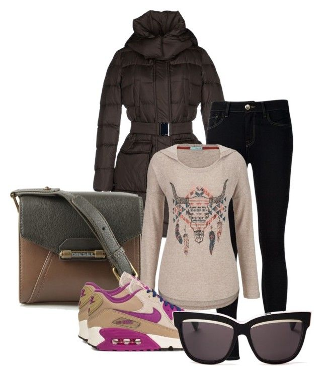 """"""":*"""" by jelaxoxo ❤ liked on Polyvore featuring 313 Tre Uno Tre, Ström, Diesel, NIKE, maurices and Christian Dior"""