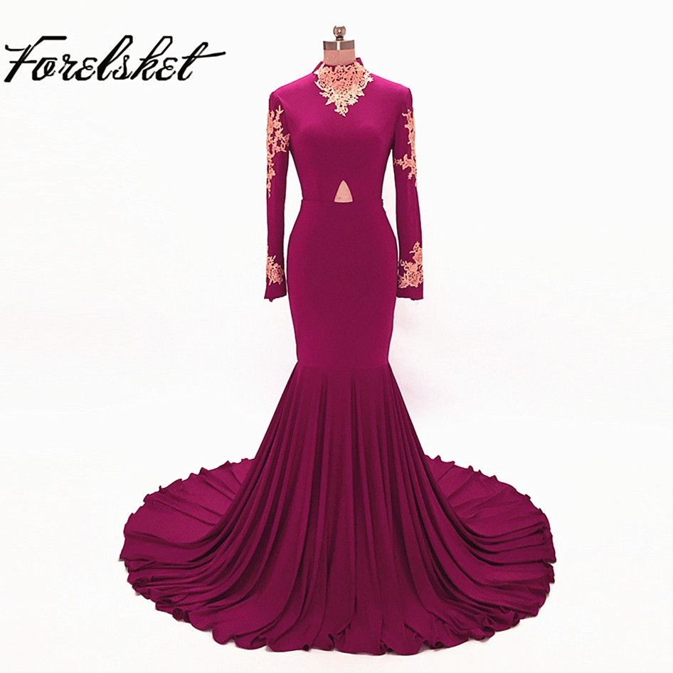 Prom dresses mermaid long evening gowns halter lace formal