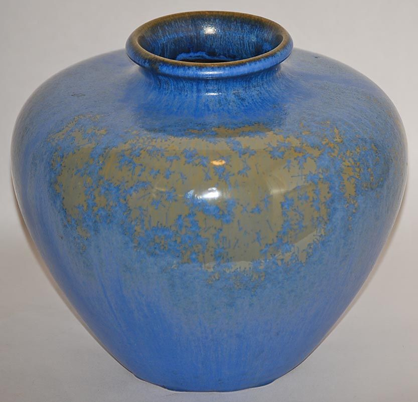 Fulper Pottery Blue Crystalline Vase Shape 658 From Just Art