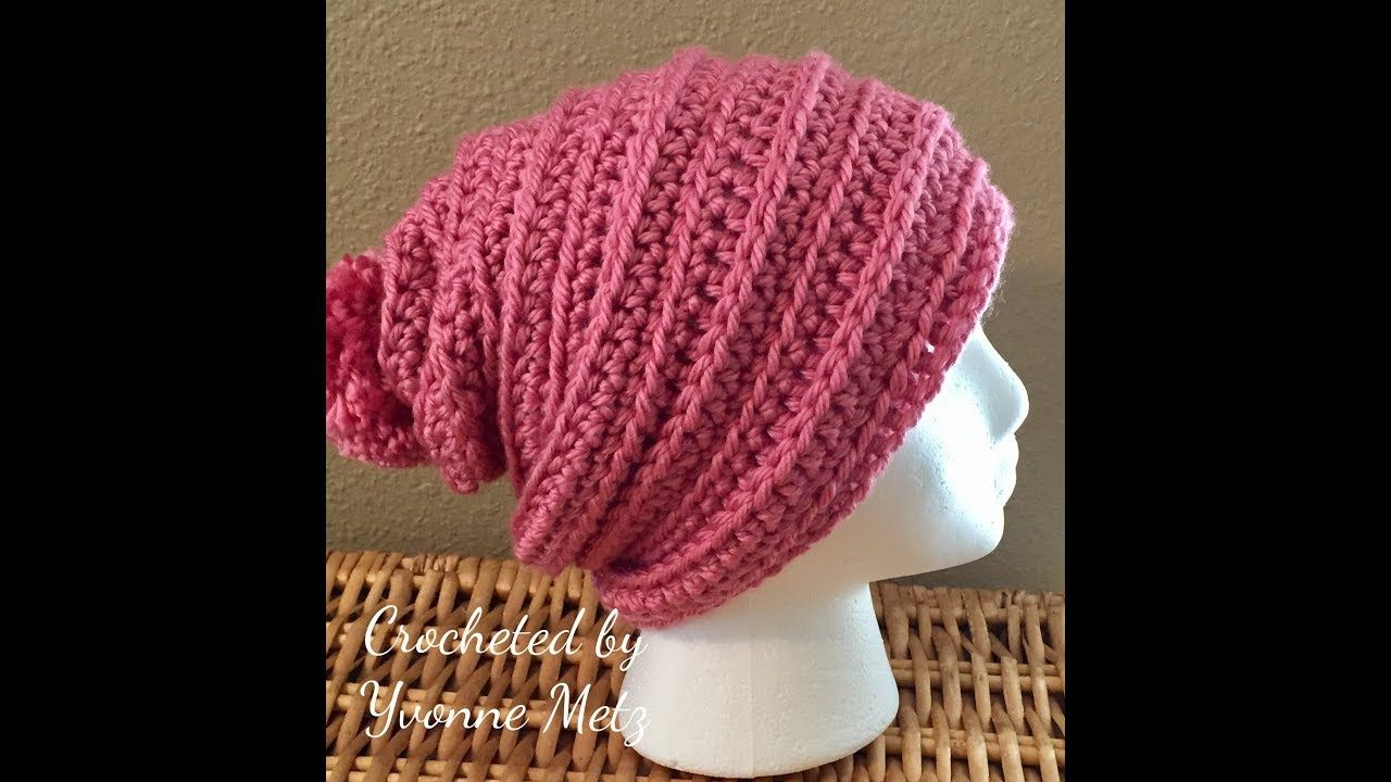 Left Handed Crochet Just Chillin Beanie | bazaar patterns ...