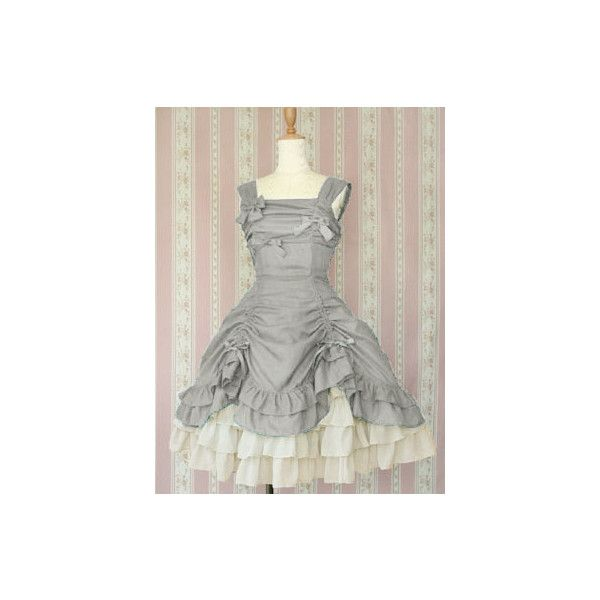 Fairy Check Doll JSK found on Polyvore featuring polyvore, fashion, clothing, dresses, lolita, jsk, baby doll dress, checked dress, checkered dress and doll dress