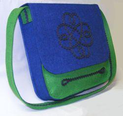Táska varrás filcből (ingyen szabásmintával) táska szabás táska szabásminta  táska varrás d386c960d9