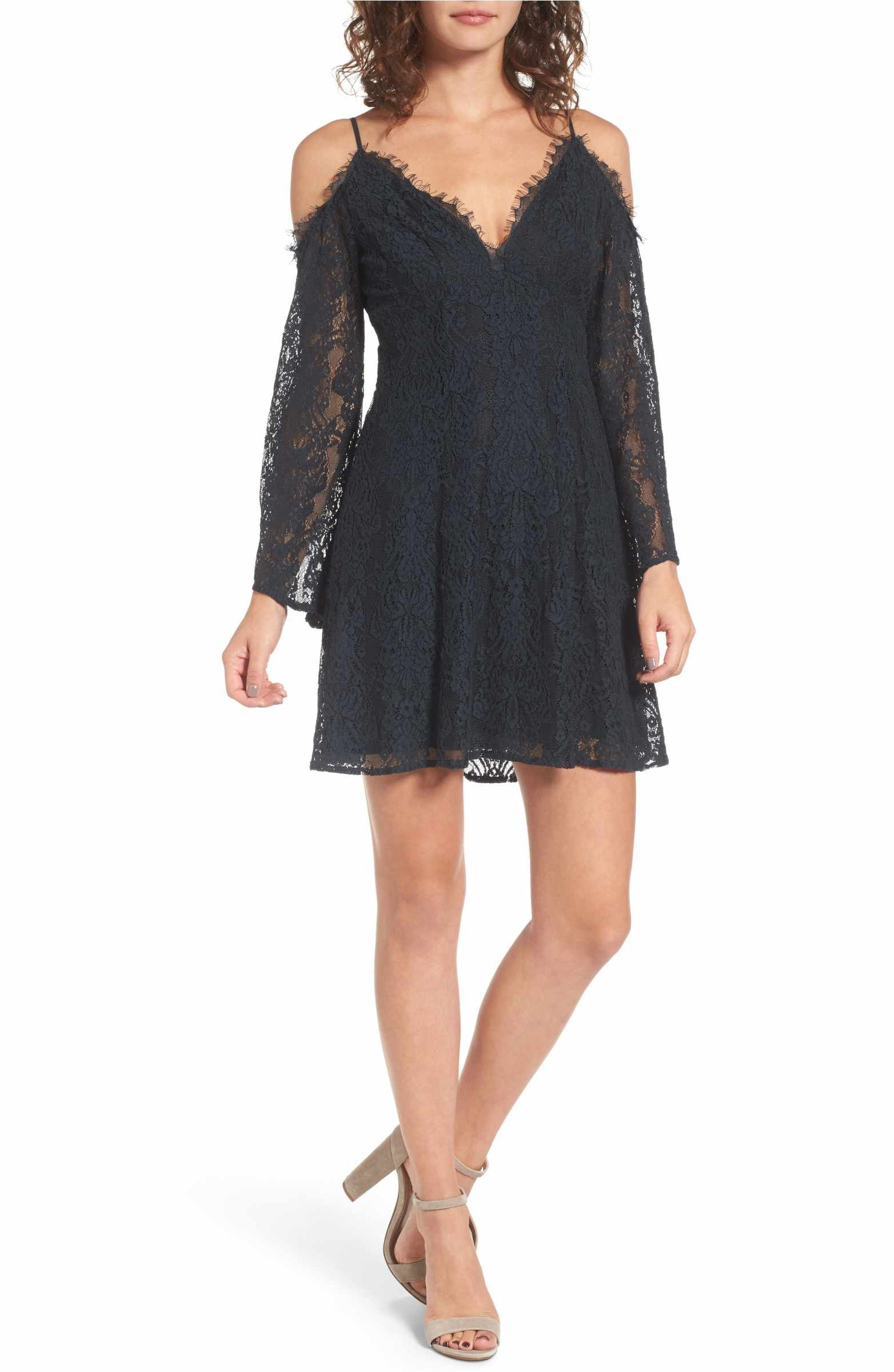 Lace cold shoulder dress shoulder dress cold shoulder and lush