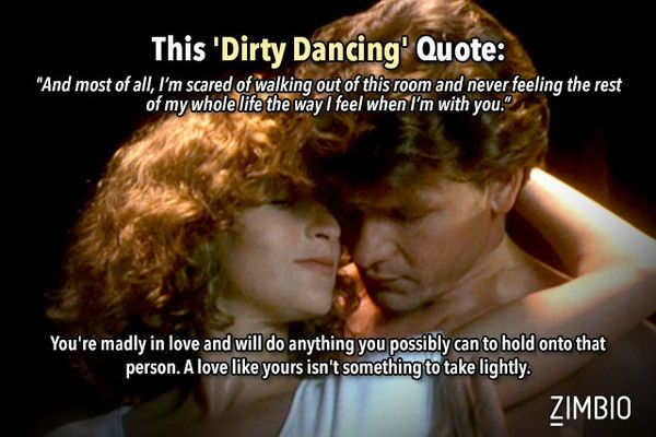 80 Quotes About Love And Romance : Which 80s Movie Quote Sums Up Your Love Life? Dancing quotes ...