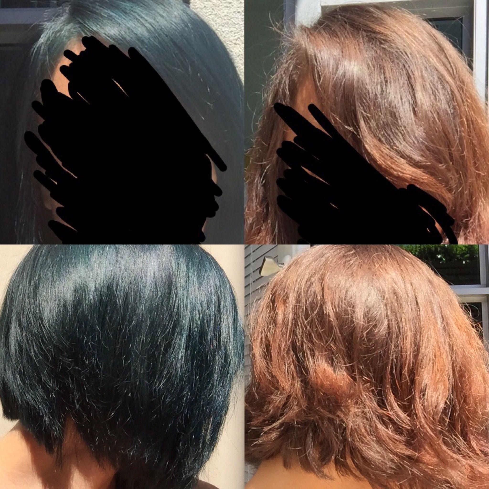 Arctic Fox Poseidon Over Unbleached Brown Hair Edgy Hair Hair Beauty Hair Makeup