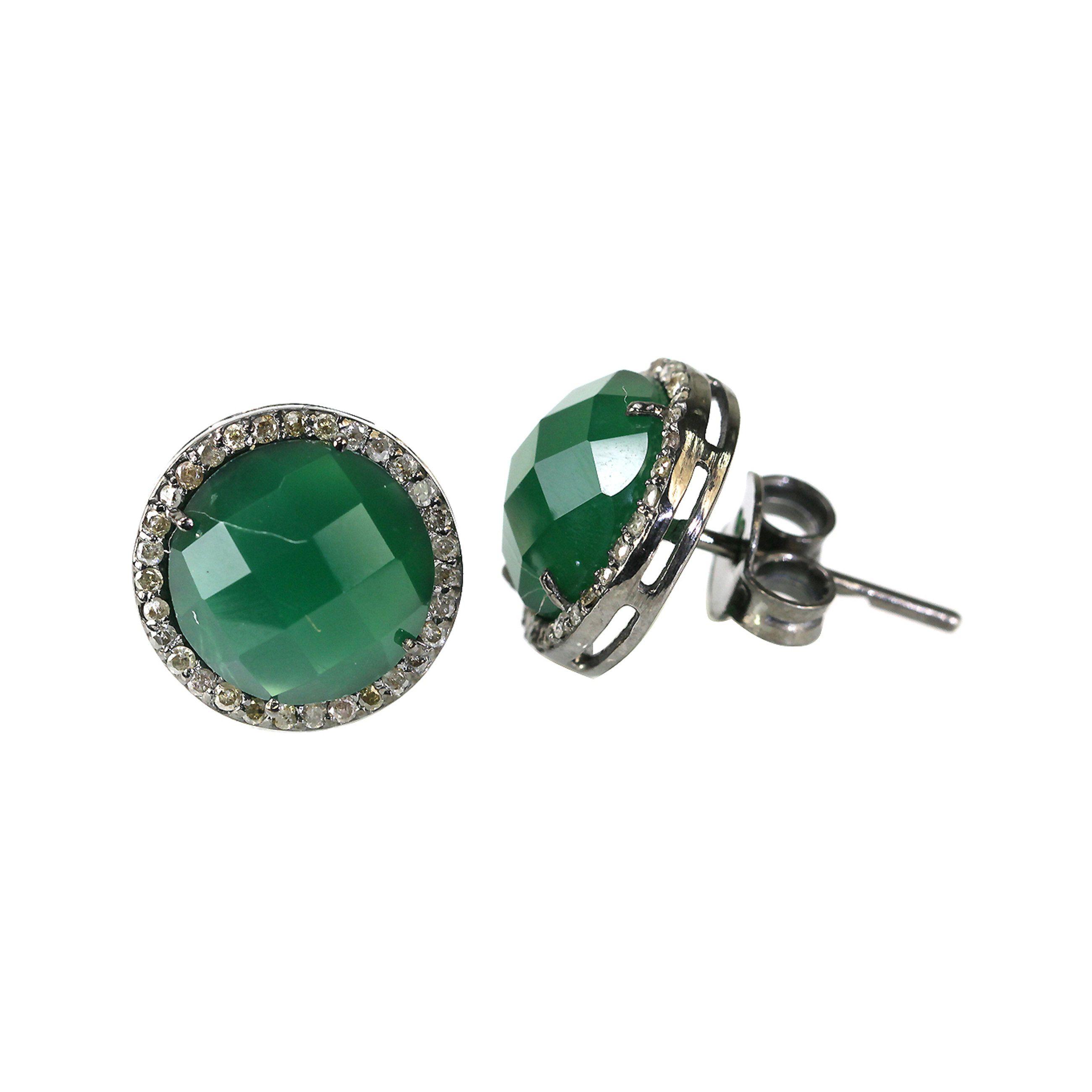 Natural Diamond Earring,925 Silver Earring,Womens Earring,Valentine Gift,Pave Earrings,Anniversary Gift,Gift For Her,Fidget Earring.