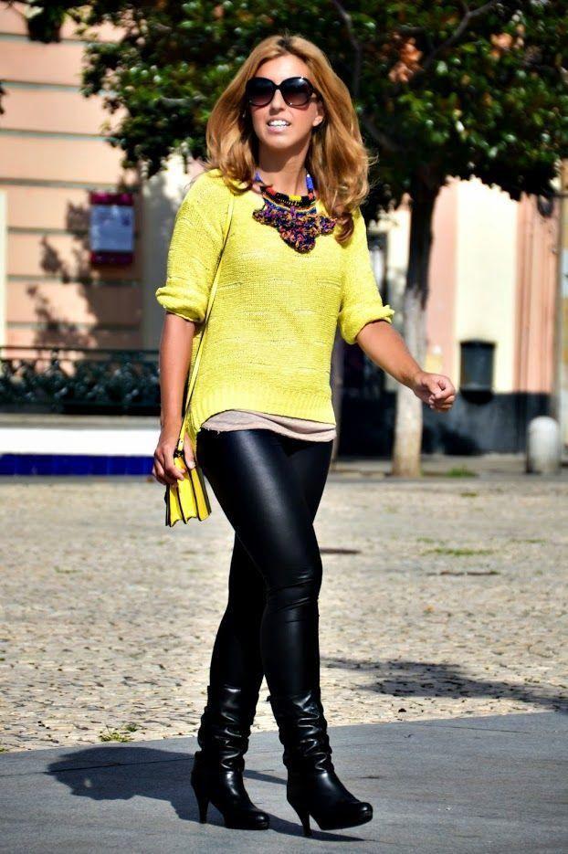 Un look con jersey amarillo, ¡da color a tu look!