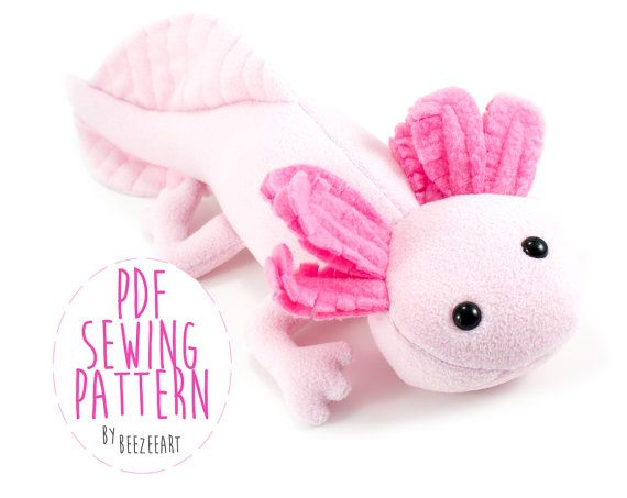 Axolotl Stuffed Animal Sewing Pattern, Plush Toy Pattern, PDF ...