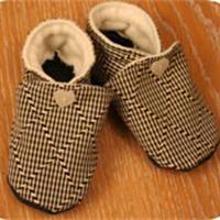b4c46c3cc8243 Chaussons d enfant en tissu Patron couture gratuit