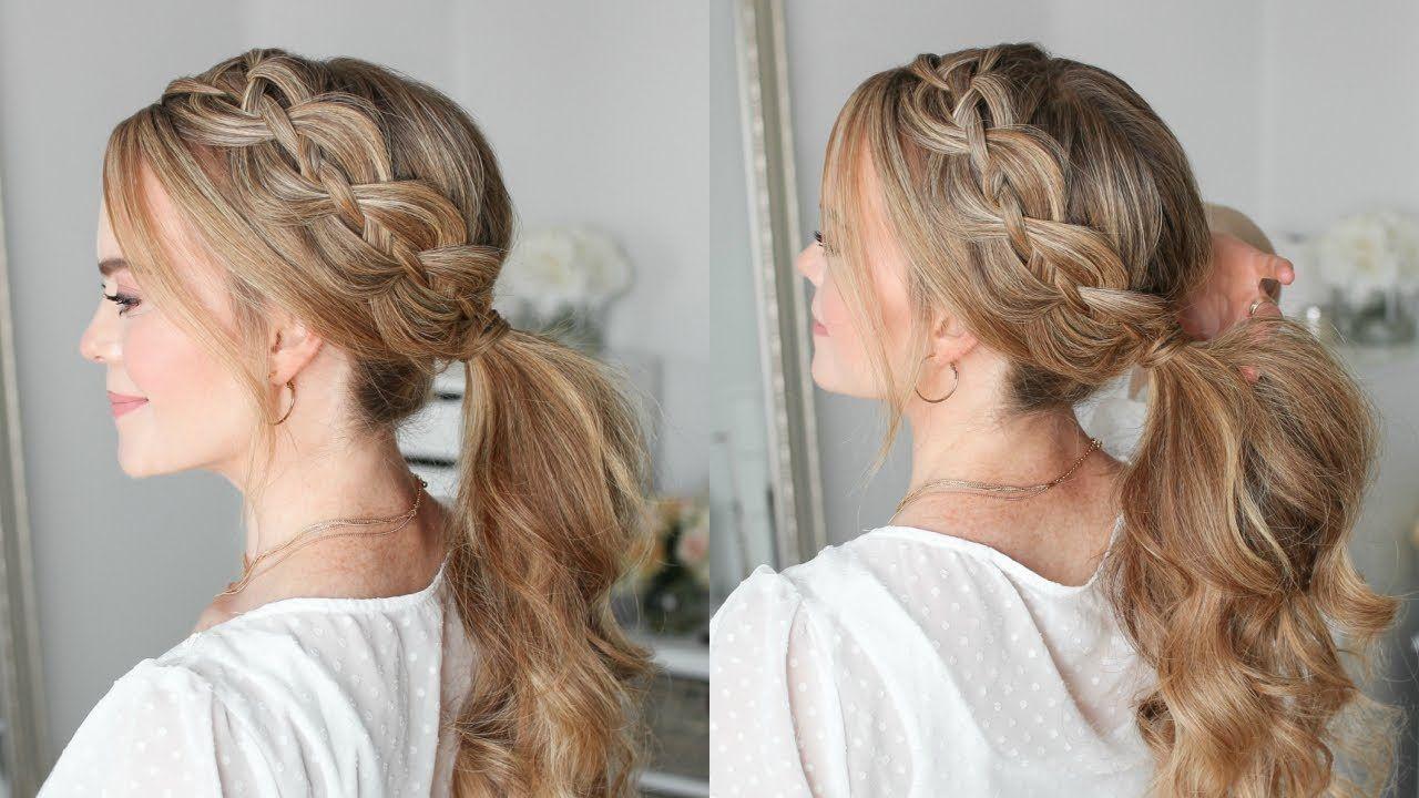4 Strand Braid Ponytail Missy Sue Youtube Hair Styles