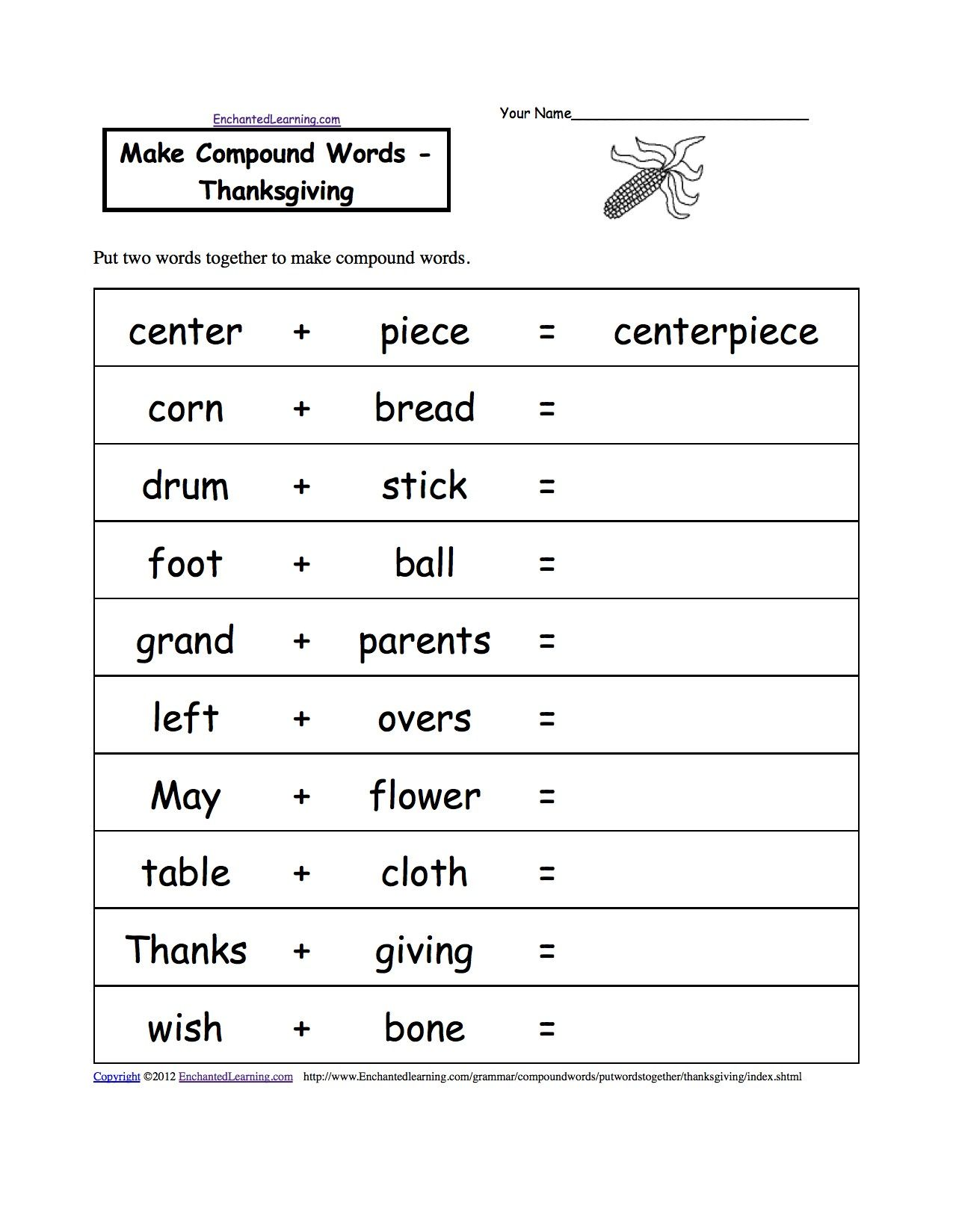 1st Grade Thanksgiving Worksheets Free