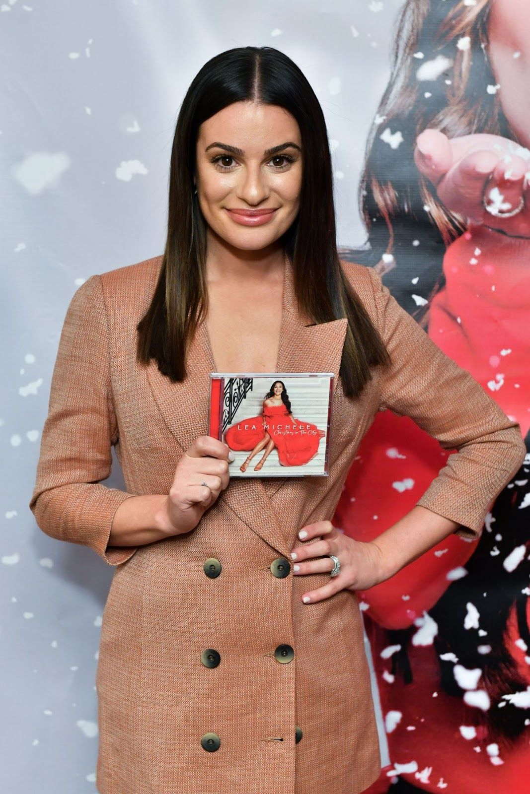 "Lea Michele ""Christmas in the City"" Album Launch in NY"