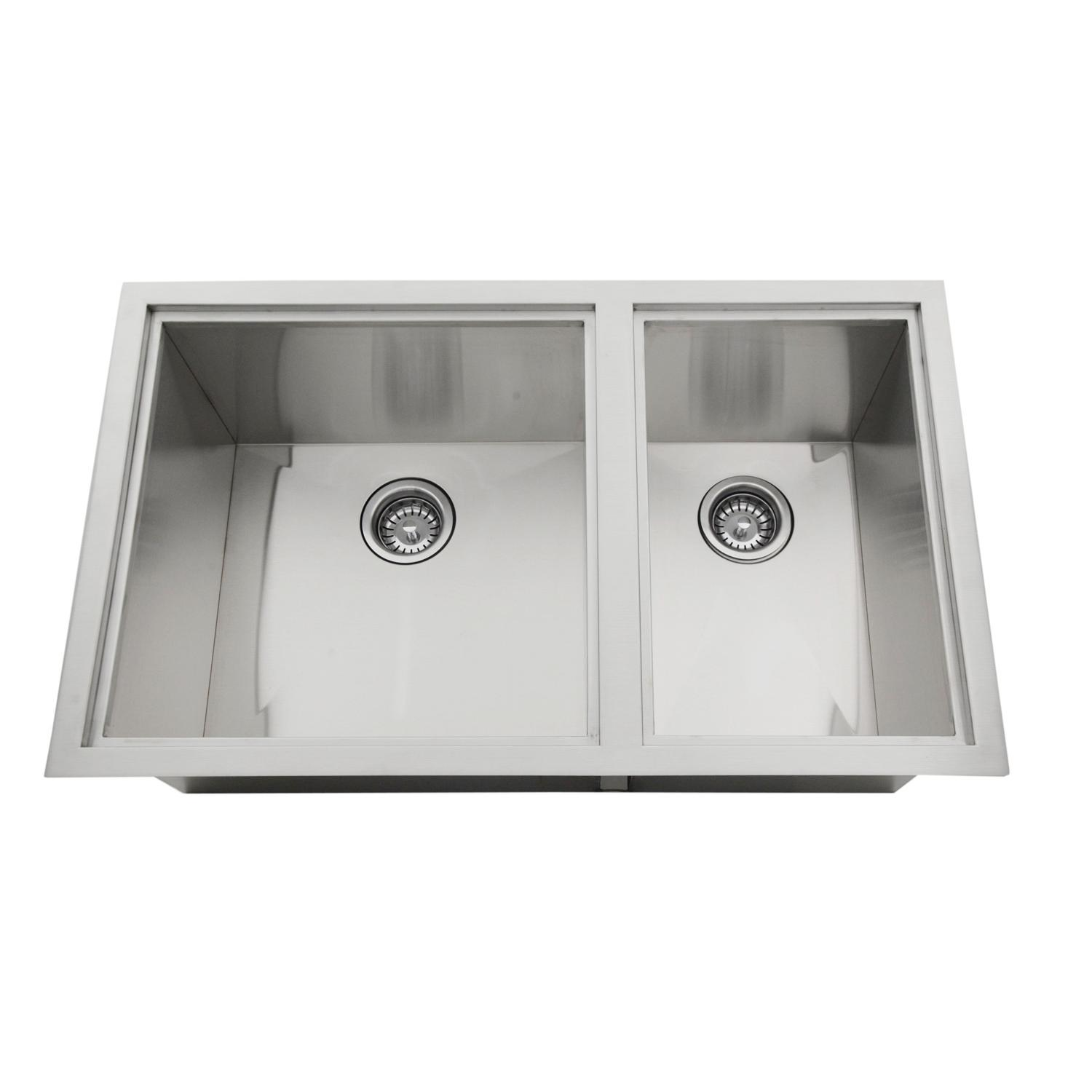 Sunstone Dual Mount 34 Inch Outdoor Rated Double Basin Sink With Covers B Sk34 With Images Double Basin Sink Basin Sink Double Basin