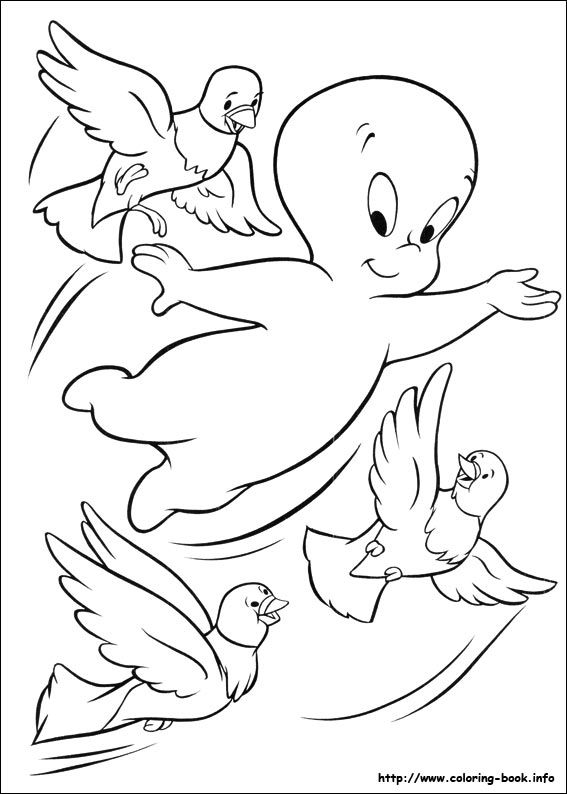 Casper Coloring Picture Bird Coloring Pages Cartoon Coloring