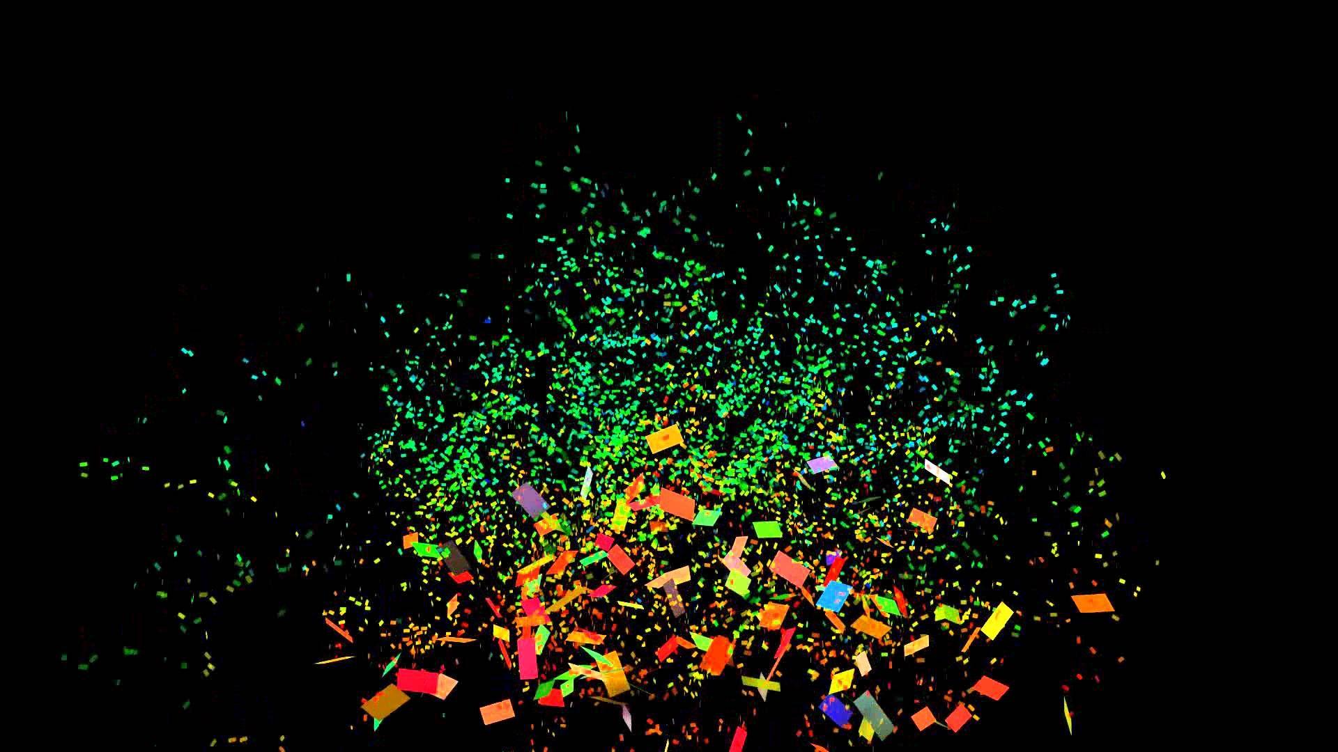 2 Confetti Cannon 1080p Full Hd Confetti With Black Background Black Background Images Background Images Background