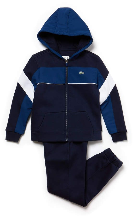 adac45e19b61 Boys  SPORT Fleece And Taffeta Tennis Tracksuit