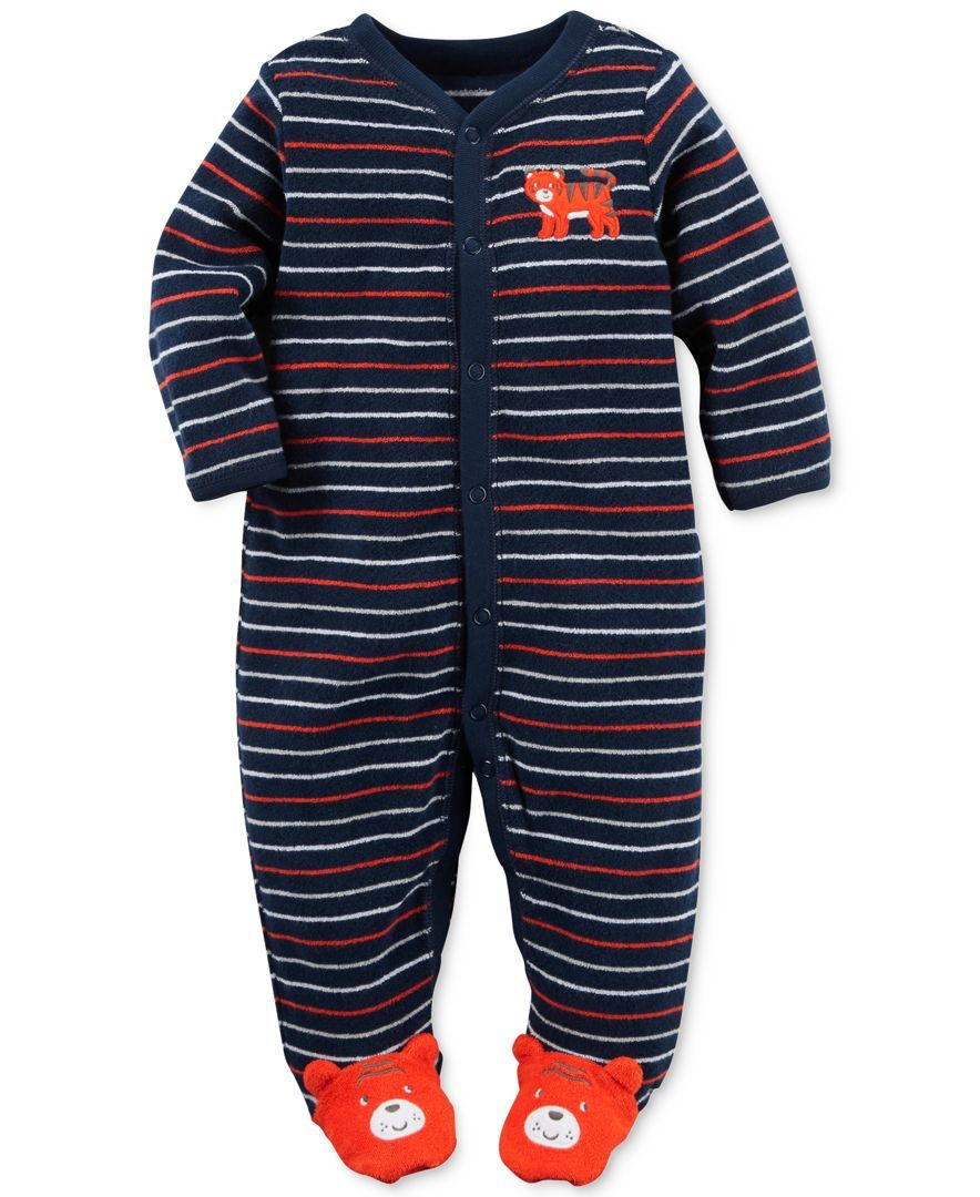 Baby Carters Striped Footie
