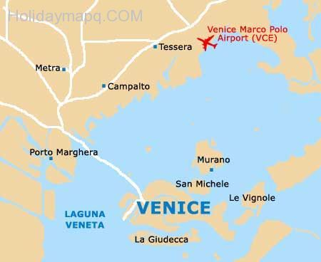 Map Of Italy Venice.Awesome Venice On Map Of Italy Holidaymapq Venice Map Italy Map
