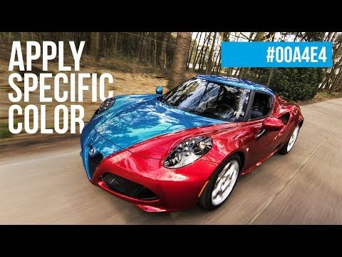 Trick To Apply A Specific Color To Any Object In Photoshop Askpix Youtube Sports Car Alfa Romeo Alfa Romeo 4c