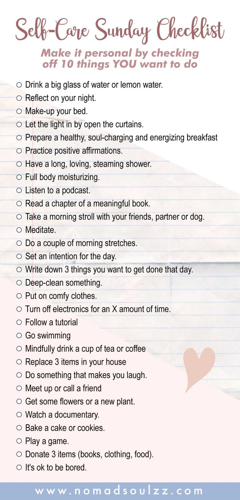 An Easy Recharging Self-Care Sunday Routine Checklist