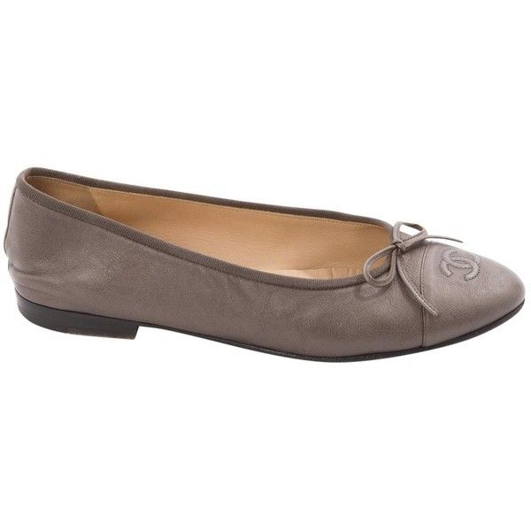 Pre-owned Chanel Leather Ballet Flats (7 125 UAH) ❤ liked on Polyvore ·  Ballerines En CuirAppartement De BallerineChaussures Chanel 320b556d46a