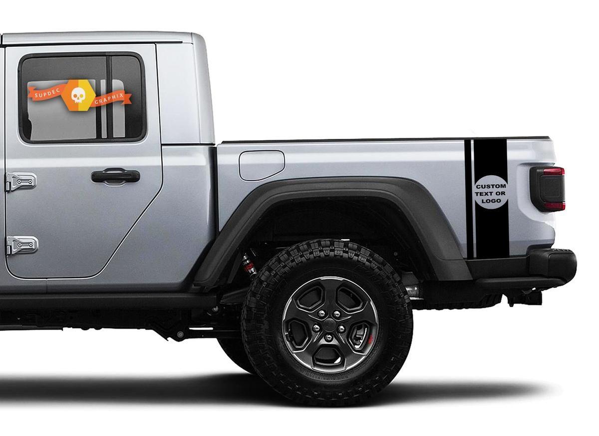 Jeep Gladiator Jt Bumble Bee Style Tail Stripe Vinyl Graphics In 2020 Vinyl Graphics Jeep Gladiator Stripe Kit