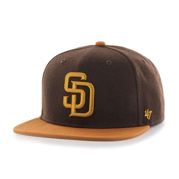 the best attitude 2052c 19d7c San Diego Padres Sutton Captain Brown 47 Brand Adjustable Hat