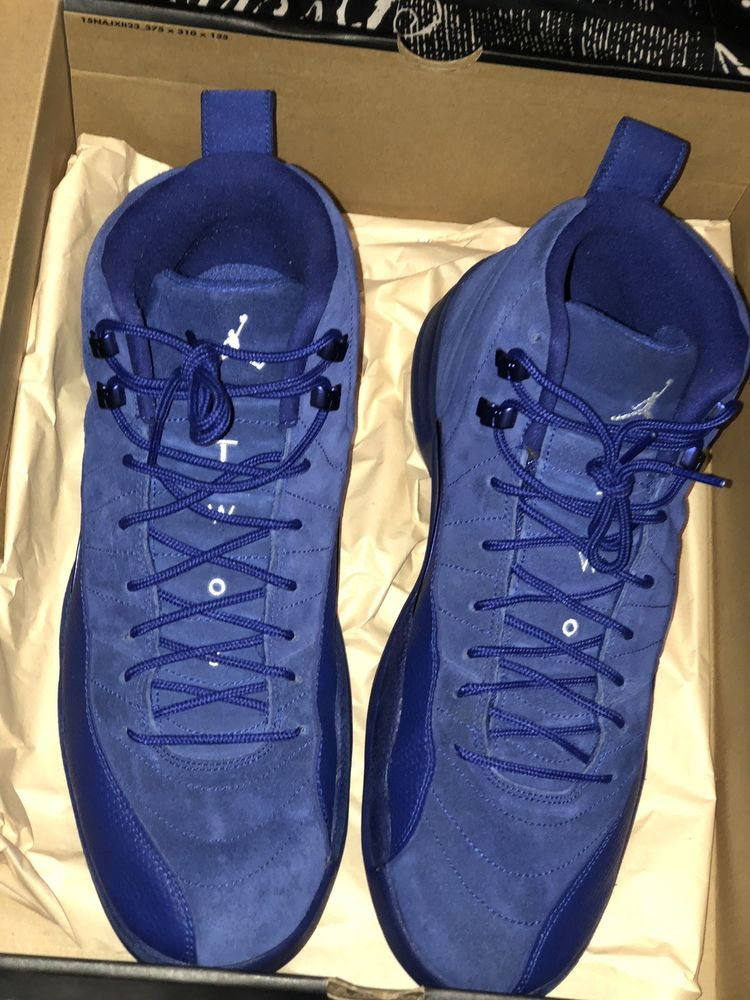 low cost 0aa79 0171e jordan retro 12 blue suede #fashion #clothing #shoes ...