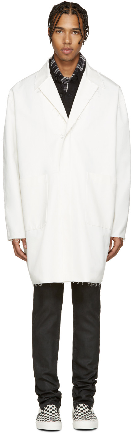 White Work Coat | Coats, Cloths and Work coats