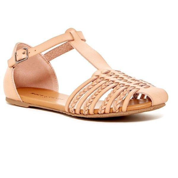 Rock  Candy Harlyn Braided Sandal featuring polyvore womens fashion  shoes sandals Strappy FlatsNude
