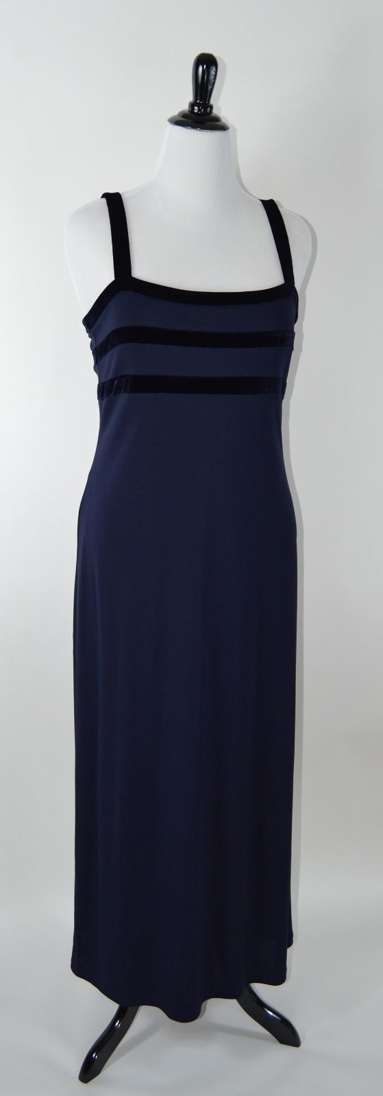 Cool Awesome Blue Liz Claiborne Full Length Formal Dress Size Xl