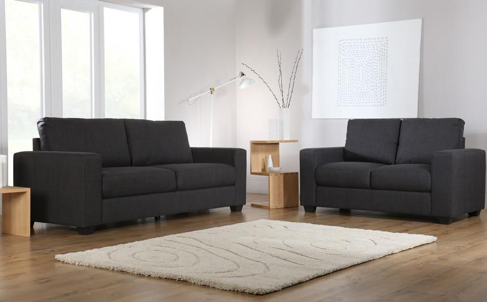Mission Slate Grey Fabric 3 2 Seater Sofa Set Fabric Sofa Sofa Set Living Room Furniture