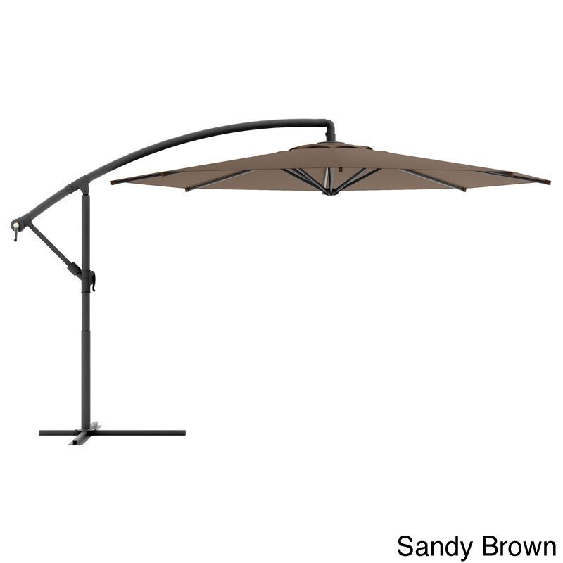 CorLiving Offset Patio Umbrella (Black), Size 8 Foot (Steel) #PPU 4X0 U