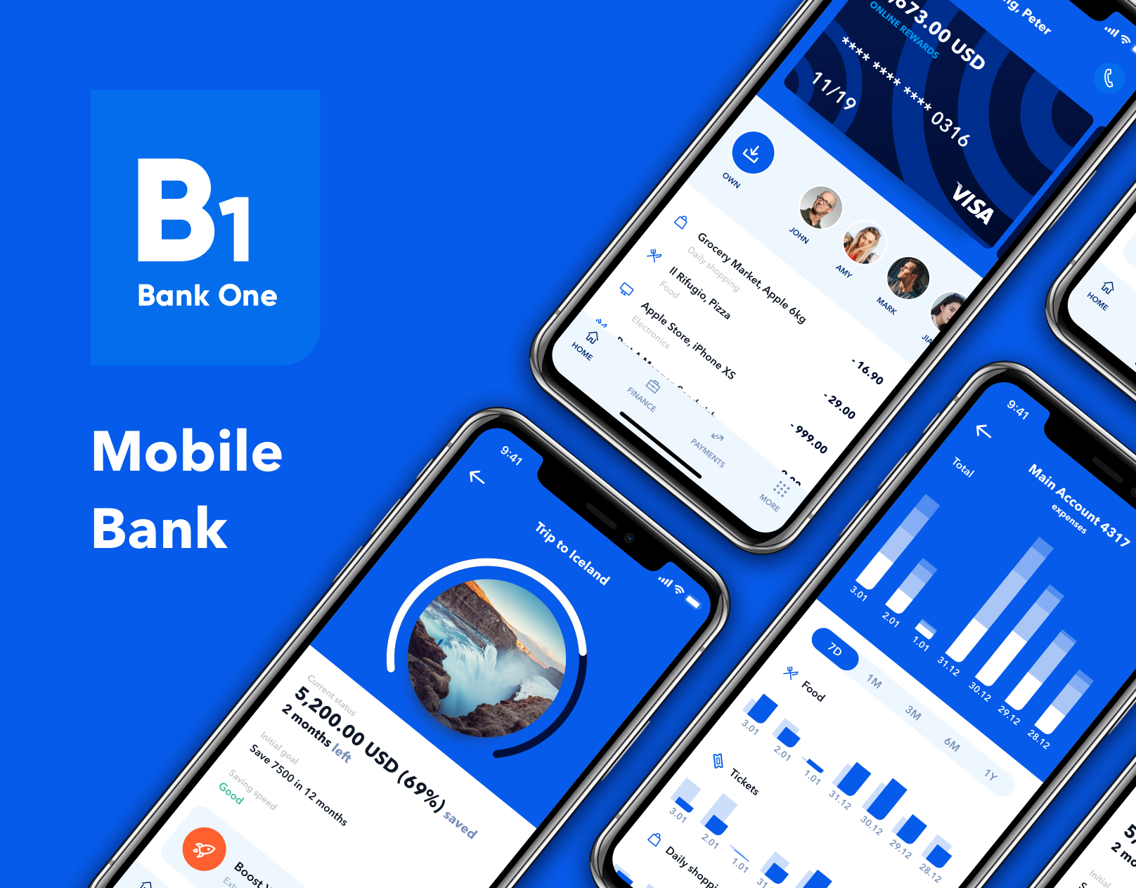 "查看此 Behance 项目""B1 Mobile Bank App UX""https//www"