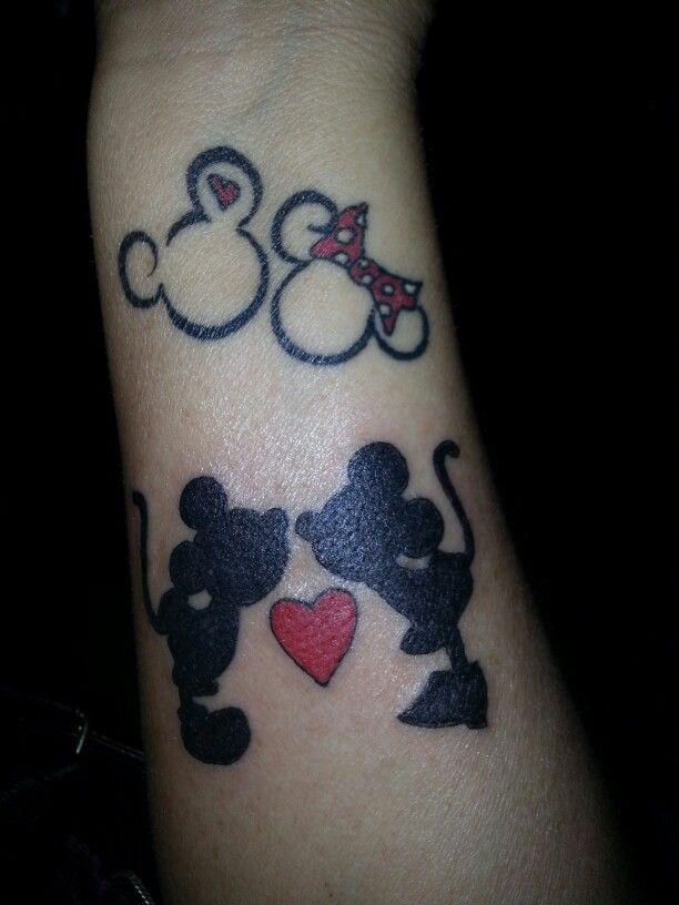 Mickey And Minnie Tattoo Tatuajes Pinterest Minnie Tattoo