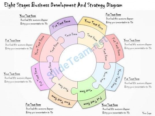 1113 Business Ppt Diagram Eight Stages Business Development And