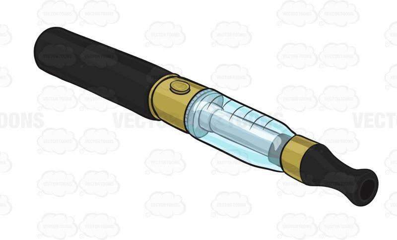 Black E-Cigarette With A Gold And Clear Blue Tank #APV #black #blue #cigarette #e-cig #e-cigarette #electroniccigarette #gold #smoker #smoking #vapor #watervapor