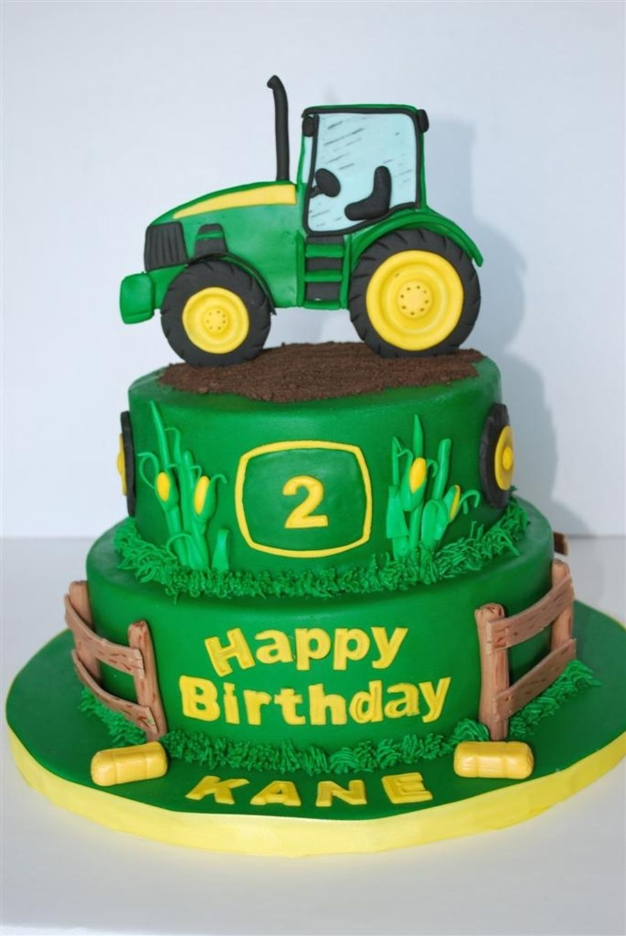 Tractor Theme 2d Topper Is Made Of Fondant As Well As All
