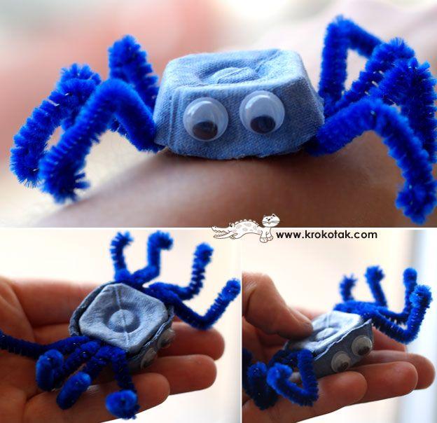 eggbox spiders  A adapter en coccinelle pour les crapulettes