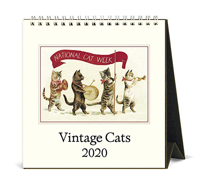 2020 Vintage Cats Desk Calendar Office
