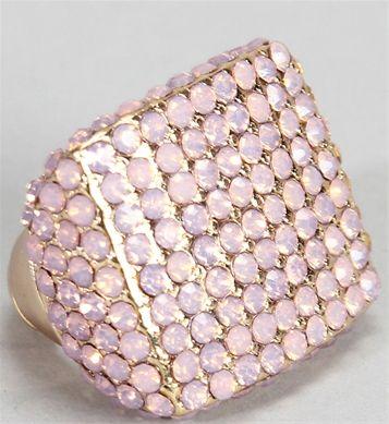 Pink Rhinestone Square Ring