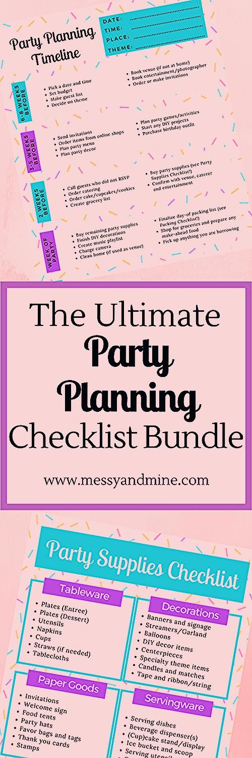 Photo of The Ultimate Party Planning Checklist Bundle- Free Printable! – Messy & Mine